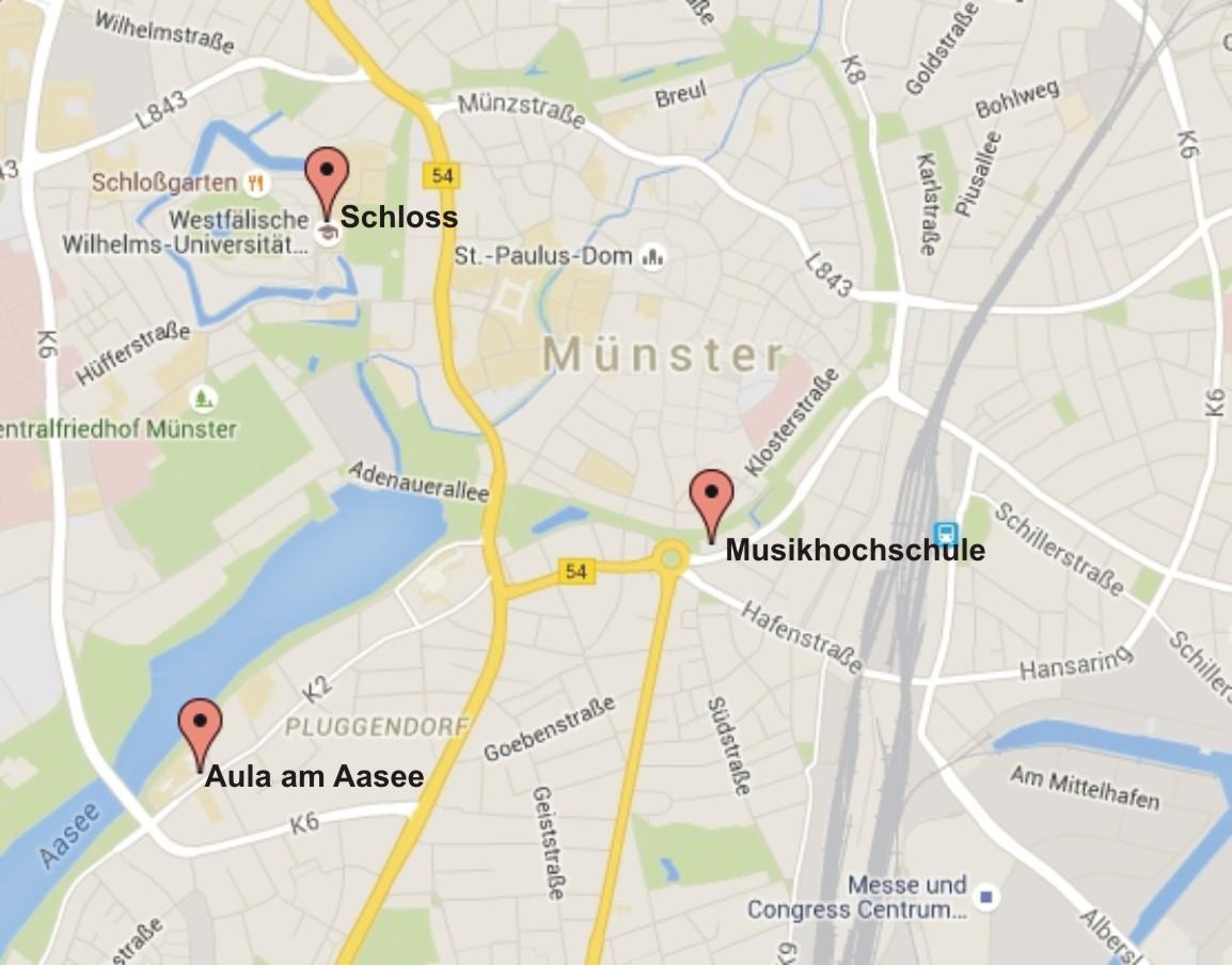 Münster Karte Markiert